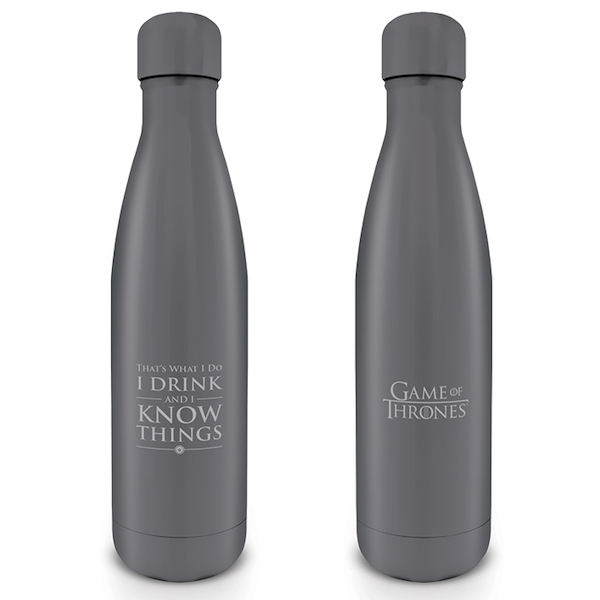 Game Of Thrones - I Drink and I Know Things (Metal) Water Bottle