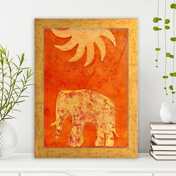 AC74621083 Multicolor Decorative Framed MDF Painting