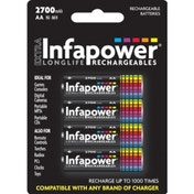 INFAPOWER AA 2700MAH NI-MH Rechargeable Batteries (4-Pack) B004