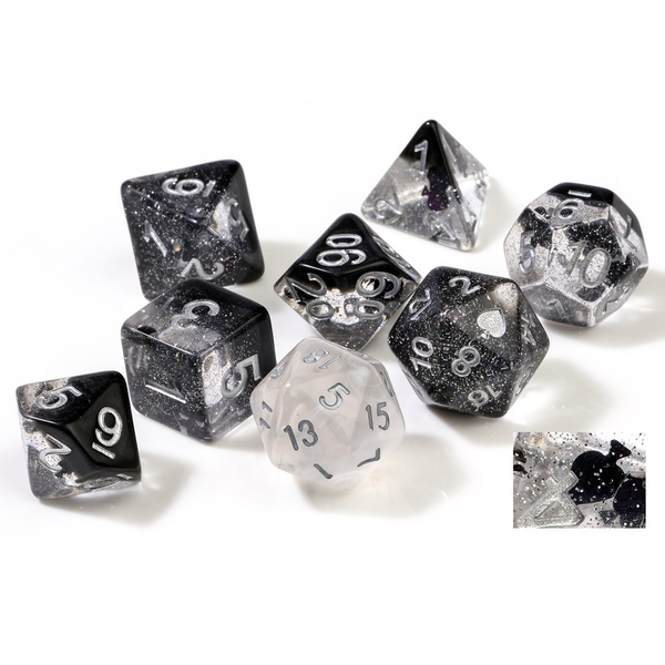Sirius Dice - Spades Poly Dice Set