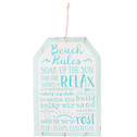 Beach Rules Hanging Sign