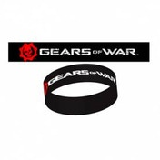 Gears of War Black Logo Rubber Wrist Band