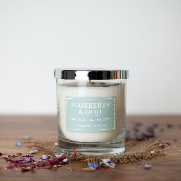Blueberry & Goji (Pastel Collection) Glass Country Candle