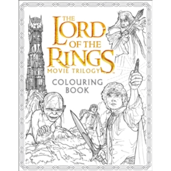 The Lord of the Rings Movie Trilogy Colouring Book by Warner Brothers, J. R. R. Tolkien (Paperback, 2016)