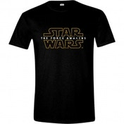 Star Wars VII Men's The Force Awakens Main Logo Large T-Shirt