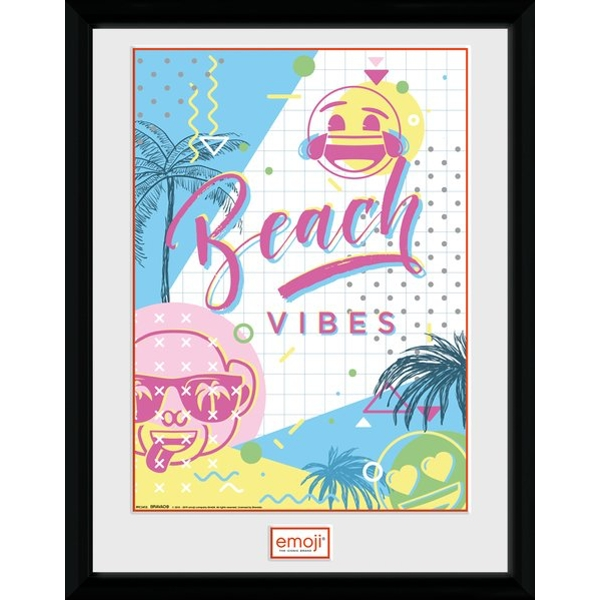 Emoji Beach Vibes Collector Print