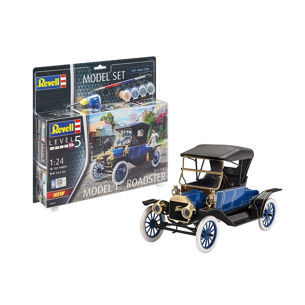 Ford T Roadster 1913 1:24 Scale Level 5 Revell Model Set