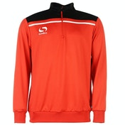 Sondico Precision Quarter Zip Sweatshirt Youth 11-12 (LB) Red/Black