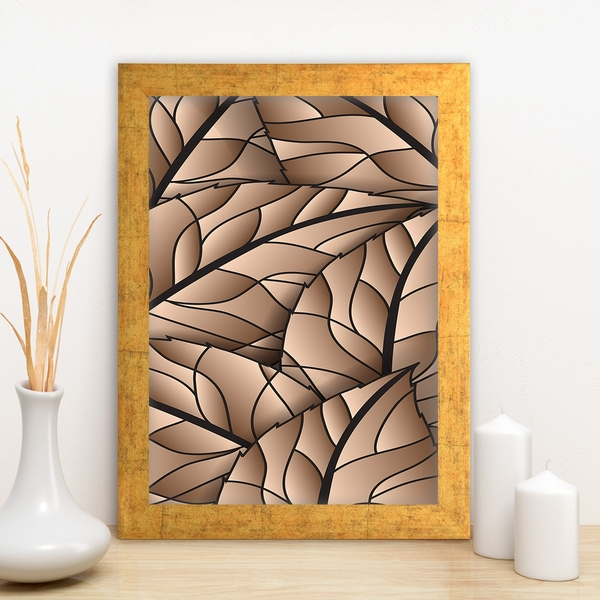 AC7648201933 Multicolor Decorative Framed MDF Painting
