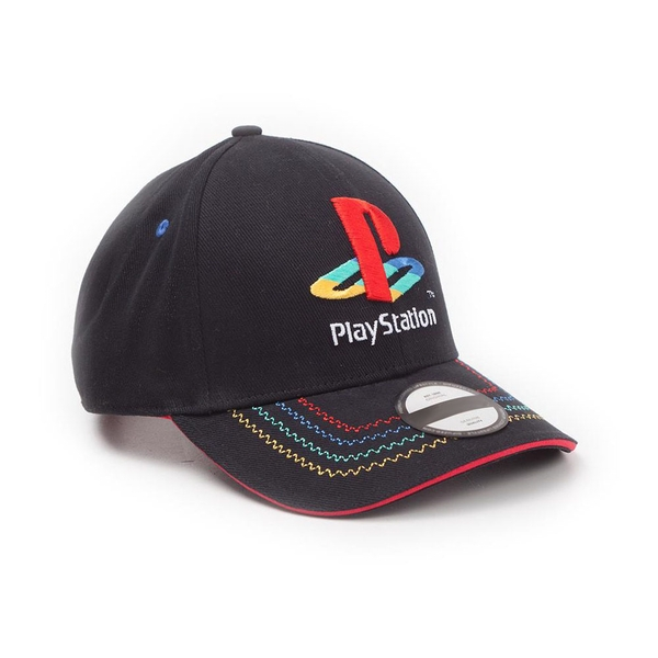 Sony - Embroidered Retro Logo Unisex Adjustable Cap - Black/Red