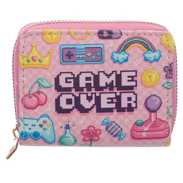 Next Gen Game Over Zip Around Small Wallet Purse