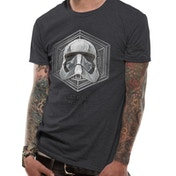 Star Wars 8 - Captain Phasma Badge Men's Large T-Shirt - Grey