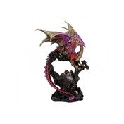 Crimson Monarch Dragon Statue