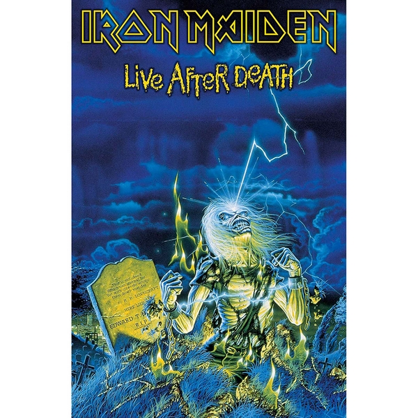 Iron Maiden - Live After Death Textile Poster