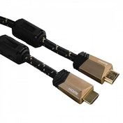 Hama Premium HDMI Cable with Ethernet, plug - plug, ferrite, metal, 0.75 m
