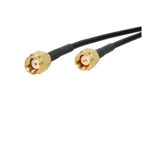 10 ft RP-SMA to SMA Wireless Antenna Adapter Cable - M/M