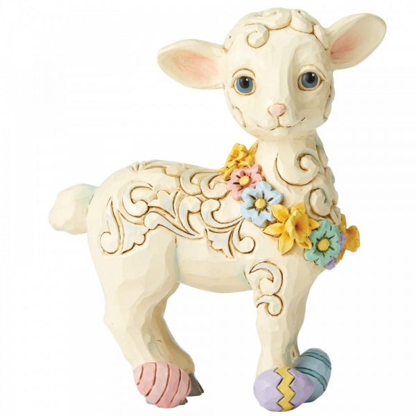 Lamb with Easter Eggs Figurine