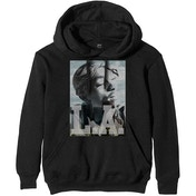 Tupac - LA Skyline Men's Small Pullover Hoodie - Black
