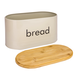 Kitchen Bread Bin with Bamboo Chopping Board Lid | M&W - Image 5