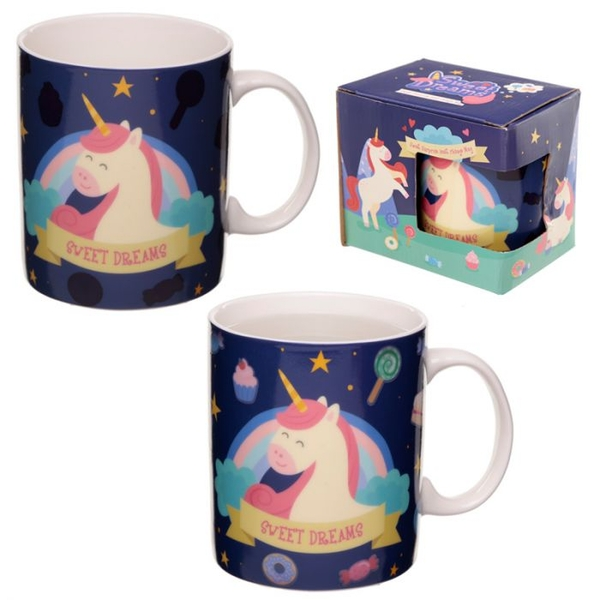 Sweet Dreams Unicorn Heat Colour Changing New Bone China Mug