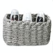 Woven Rope Storage Baskets - Set of 3 M&W Grey - Image 3