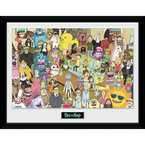 Rick and Morty Total Rickall Framed Collector Print