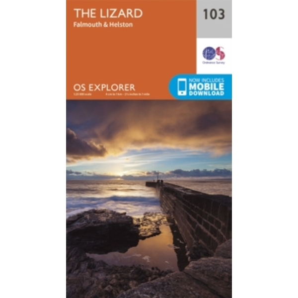 Lizard, Falmouth and Helston by Ordnance Survey (Sheet map, folded, 2015)
