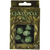 Q-Workshop Elvish Green & White Dice Set