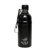 Long Paws Black (500ml) Medium Pet Water Bottle