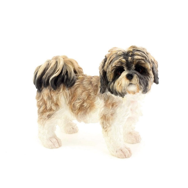 Brown & White Shihtzu Figurine By Lesser & Pavey
