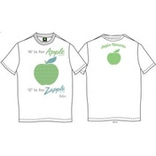 A is for Apple Mens White Vintage Print T Shirt: Large