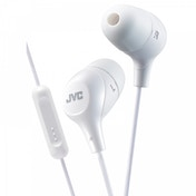 JVC HAFX38MW Marshmallow Custom Fit In-Ear Headphones with Remote & Mic White