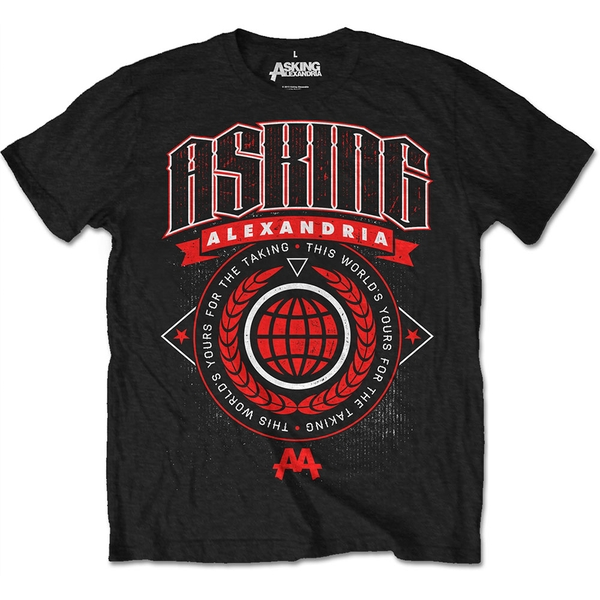 Asking Alexandria - This World Unisex X-Large T-Shirt - Black