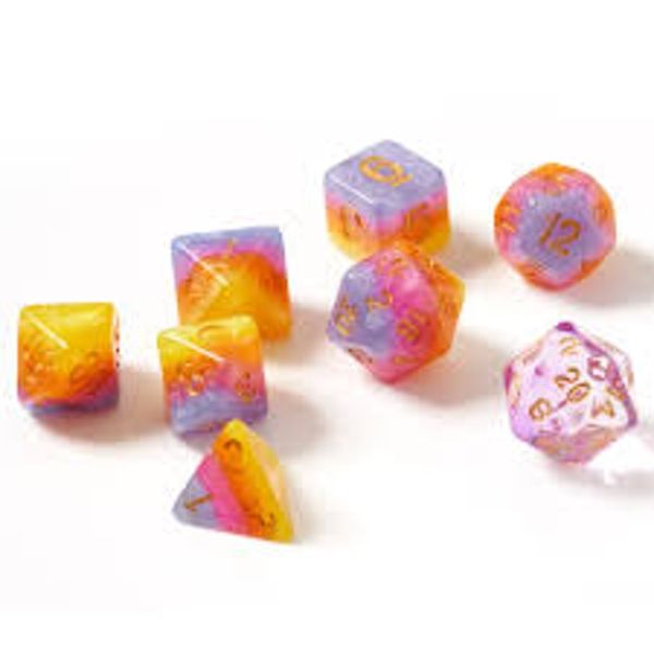 Sirius Dice Tahitian Sunset Polyhedral 7 Dice Set