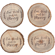 Set of 4 Printed Log Coasters