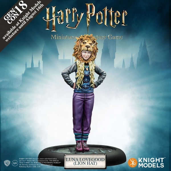Luna Lovegood With a Lion Hat Exp Harry Potter Miniatures Adventure Game Gencon Exclusive Board Game