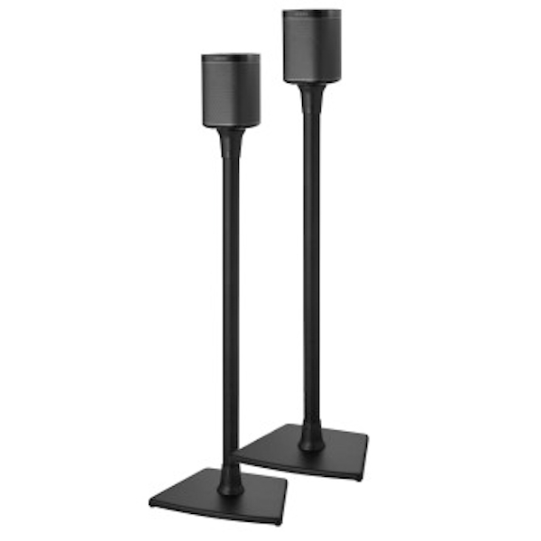 """Sanus """"WSS22"""" Speaker Stand for Sonos® ONE, PLAY:1, PLAY:3, 2 pcs., black"""
