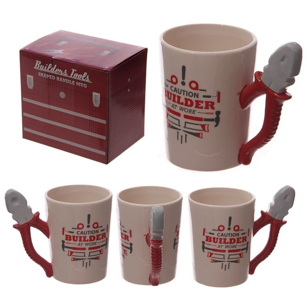 Builders Pliers Shaped Handle Ceramic Mug