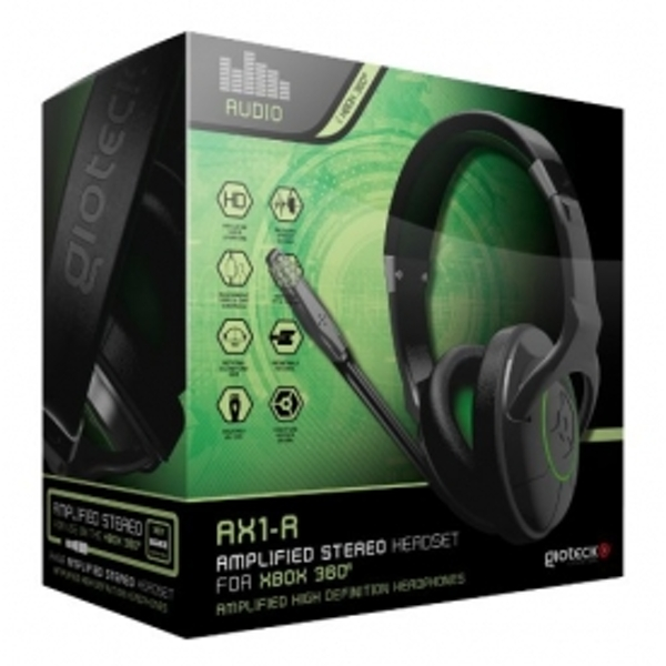 Gioteck AX1-R Amplified Gaming Headset Xbox 360