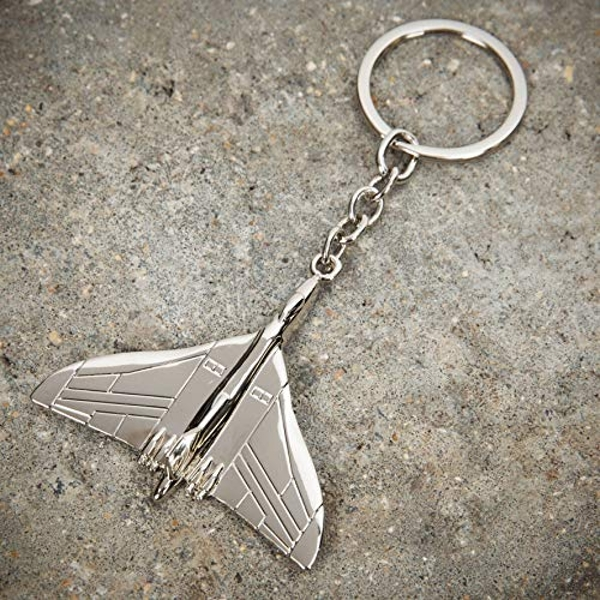 Military Heritage Silver Plated Keyring - Vulcan