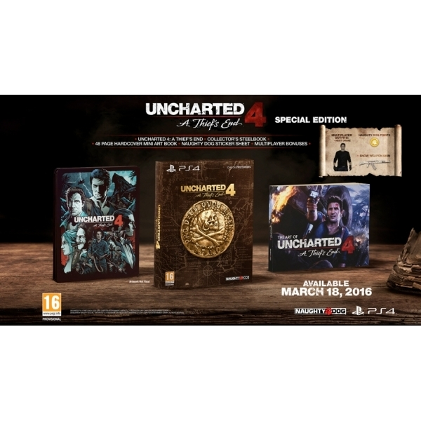5cc64407bb2 Uncharted 4 A Thief s End Special Edition PS4 Game + Drake Sackboy Keyring  - Image 3