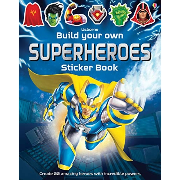 Build Your Own Superheroes Sticker Book by Simon Tudhope (Paperback, 2016)
