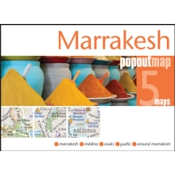 Marrakesh PopOut Map : Handy pocket size pop up city map of Marrakesh