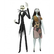 Ex-Display Nightmare Before Christmas Jack and Sally Action Figure Coffin Set Used - Like New