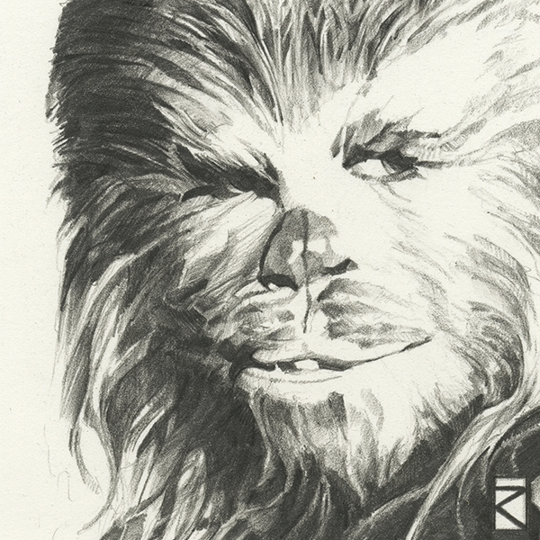 Star Wars - Chewbacca Sketch Canvas - Image 1