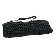 Powercool KB-768 V2 LED USB Keyboard Green/Red/Blue Backlit M/M Functions