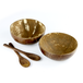 Pack of 2 Natural Coconut Bowls | M&W - Image 3