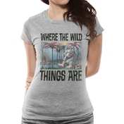 Where The Wild Things Are - Book Cover Women's X-Large T-Shirt - Grey