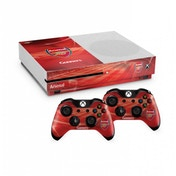 Official Arsenal FC Xbox One S Console Skin and 2x Controller Skin Combo Pack