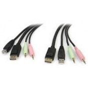 StarTech 4-in-1 USB DisplayPort KVM Switch Cable